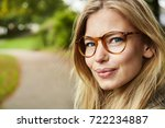 portrait of beautiful young... | Shutterstock . vector #722234887