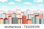 skyline of the european city...   Shutterstock .eps vector #722235193