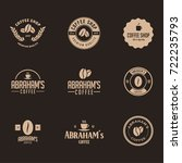 coffee label and badge with... | Shutterstock .eps vector #722235793