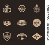 coffee label and badge with... | Shutterstock .eps vector #722235823