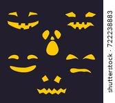 halloween holiday  set of... | Shutterstock .eps vector #722238883