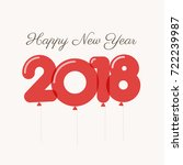 happy new year 2018 card ... | Shutterstock .eps vector #722239987