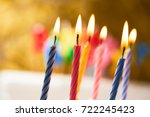birthday candles | Shutterstock . vector #722245423