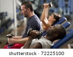 people working out with weights ... | Shutterstock . vector #72225100