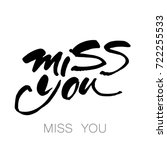 miss you inscription. hand...