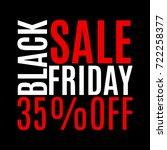 35 percent price off. black...   Shutterstock .eps vector #722258377
