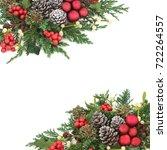 christmas background border... | Shutterstock . vector #722264557