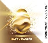 beautiful  shiny golden egg...   Shutterstock .eps vector #722272507