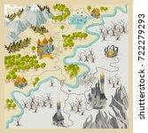 fantasy adventure map elements... | Shutterstock .eps vector #722279293