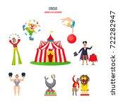 circus concept. stunning... | Shutterstock . vector #722282947