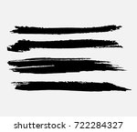 grunge paint stripe . vector... | Shutterstock .eps vector #722284327