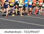 marathon running race | Shutterstock . vector #722290147