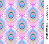 peacock pale pink seamless... | Shutterstock .eps vector #722290177