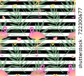 seamless nature pattern with... | Shutterstock .eps vector #722300677