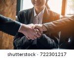 closeup of business people... | Shutterstock . vector #722301217