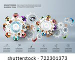 idea concept for business... | Shutterstock .eps vector #722301373