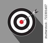 target with arrow marketing... | Shutterstock .eps vector #722301607