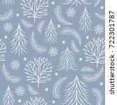 seamless pattern  christmas... | Shutterstock .eps vector #722301787