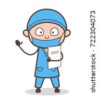 cartoon cardiologist doctor... | Shutterstock .eps vector #722304073