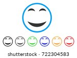 pleasure smile rounded icon.... | Shutterstock .eps vector #722304583