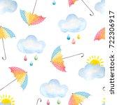 watercolor seamless pattern...   Shutterstock . vector #722306917