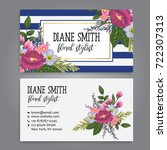 floral style business card...   Shutterstock .eps vector #722307313