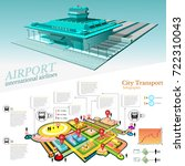 city transport info graphic... | Shutterstock .eps vector #722310043