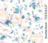 seamless pattern. hand painted... | Shutterstock . vector #722316127