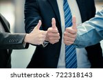 group of young people hands... | Shutterstock . vector #722318143