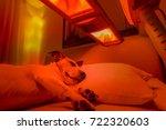 resting jack russell dog under... | Shutterstock . vector #722320603
