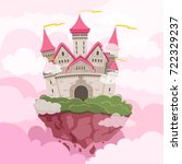 fairytale castle with big... | Shutterstock .eps vector #722329237