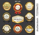 premium commercials golden... | Shutterstock .eps vector #722336653