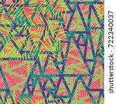 geometric seamless pattern in... | Shutterstock .eps vector #722340037