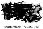 brush stroke and texture. smear ... | Shutterstock . vector #722353243