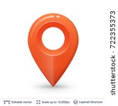 map pointer symbol. bright... | Shutterstock .eps vector #722355373