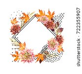 autumn watercolor floral... | Shutterstock . vector #722355907