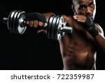 afroamerican boxer training... | Shutterstock . vector #722359987