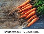 fresh harvested carrot on...