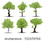 collection of green tree... | Shutterstock .eps vector #722370703