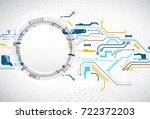 vector illustration  hi tech...   Shutterstock .eps vector #722372203