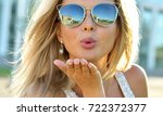 outdoor fashion portrait of... | Shutterstock . vector #722372377