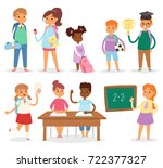 back to school kids boys and... | Shutterstock .eps vector #722377327