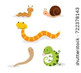 set of animals isolated on... | Shutterstock .eps vector #722378143