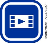 filmstrip  play icon  sign...   Shutterstock .eps vector #722378227