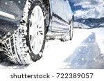 winter car and road of snow  | Shutterstock . vector #722389057