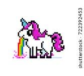 pixel art 8bit illustration of... | Shutterstock .eps vector #722392453
