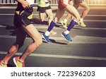 marathon running race | Shutterstock . vector #722396203