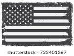 grunge usa flag.vintage black... | Shutterstock .eps vector #722401267