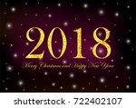 gold numerals 2018 and text... | Shutterstock .eps vector #722402107