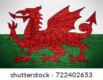 flag of wales or welsh banner... | Shutterstock . vector #722402653
